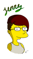 AWP Jenny im Simpsons Style by Vaccoon