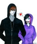 Creepypasta: Eyeless Jack x Nina The Killer by Smokertongas-arts