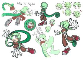 Whip the Pangolin Sheet by Megaloceros-Urhirsch