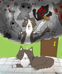 Cat zombie by Catsofdeath