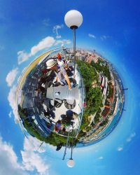View from Montjuic 360degree by BenHeine