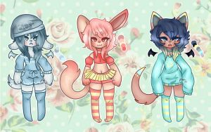 Sweet babes (adopts)(Closed) by Inky-chi