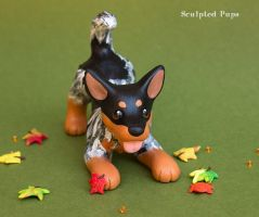 Koda Australian Cattle Dog sculpture by SculptedPups