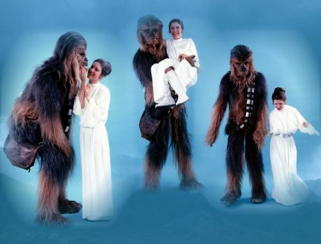 Leia and Chewie - The Empire strikes back - by Doveri