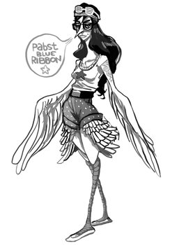 DAY 01: HARPY by scrotumnose