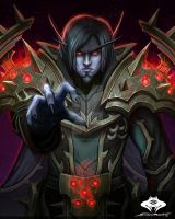 ...Commission: Void Elf Warlock... by ShadowPriest