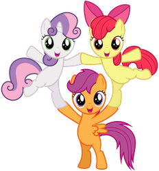 Cutie Mark Crusaders - Pyramid by thatguy1945
