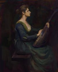 Master Study: Lady With a Lute by Meorow