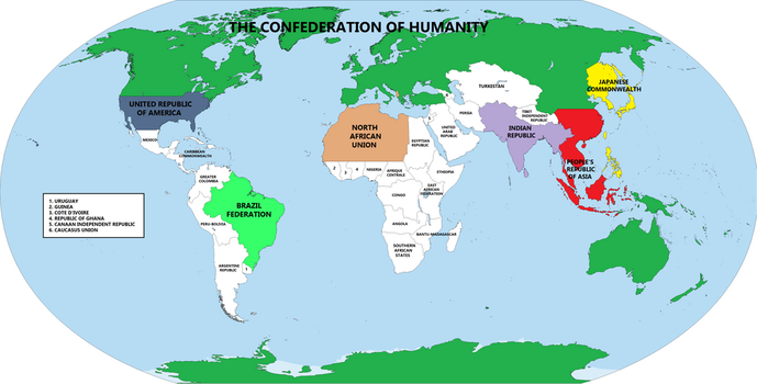 The Confederation of Humanity by improbableSpace