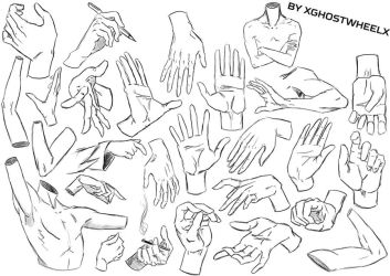 Hands and arms study - daily sketch by xghostwheelx
