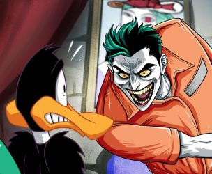 Joker Daffy Duck Special by LucianoVecchio