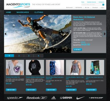 Magento Sports Theme for sale by WebAndPeople
