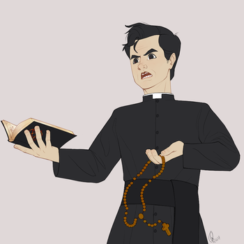 Priest!Stephen by wigfield