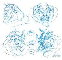 Beast expressions test by Sommum