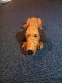 Needle felted dachshund by soad666xd