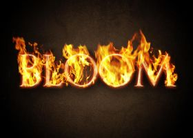 Blazing Fire Text Effect in Photoshop by AinsleyB