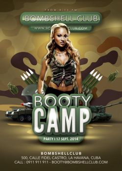 Bombshell Booty Camp Themed Army Party by n2n44