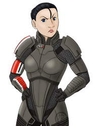 Commander Shepard by hanaraad