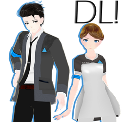 {MMDxDBH} TDA DBH Kara and Connor v2 + DL! by HB-Squiddy