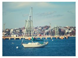 Maine sailboat by sataikasia