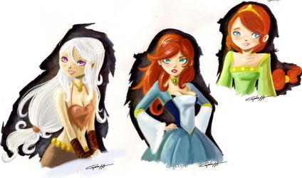Song of ice and fire girls by lujus