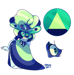 Mystery Adopt - Peacock Sapphire by SpadesArts