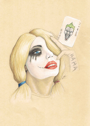 Harley Quinn (colored pencils) by Pencil--Pony