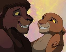 Kiara and Kovu by Lionking17