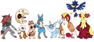 Pokeuman Group Shot [Paused Project]
