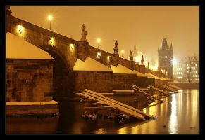 Night Prague III by semik