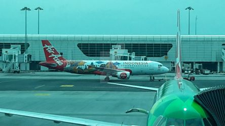 AirAsia Aircraft with AirAsia Indonesia Livery by IngeniusBrilliance