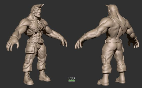 Main Character Laborer by Livius3d