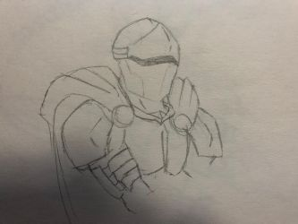 Knight doodle by ZillaHaon