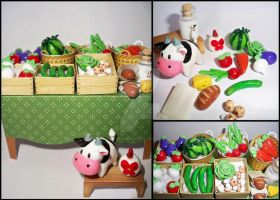 Harvest moon figurines by OnegaiSweet