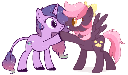 High Five Collab with FloofyHoof by MissKanabelle