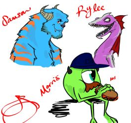 Monsters Inc Dads by J-Spence