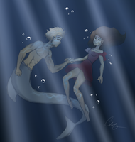 The Runaway Siren and the Drowning girl by Punk-Princess-101