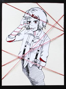 Juuzou red strings by CazyBunny