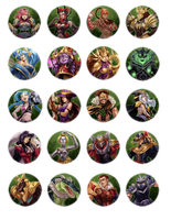 League of Legends Buttons by nebularum