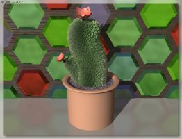 Potted Cactus by JohnK222