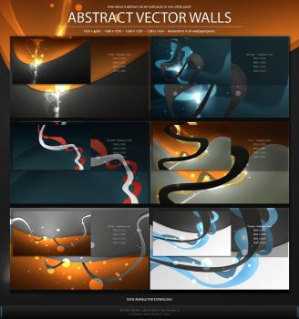 Abstract Vector Walls -WP Pack by Uribaani