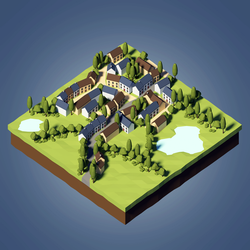 Lowpoly Town by cristina-gper