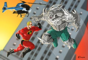 Mr Incredible vs Doomsday by Einom