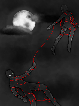 The red string of fate by SunlightMetal