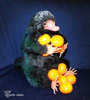 Niffler and Mandarins by hon-anim