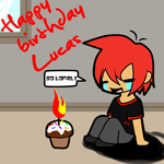happy birthday Lucas! by pinkeevee222
