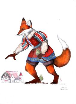 Foxenus the Giant Fox by FairytalesArtist