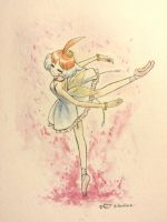 Princess Tutu - watercolor by blueberryhope