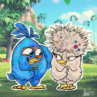 .:Young love:. [Jay x Samantha] | Angry Birds by KatTheFalcon