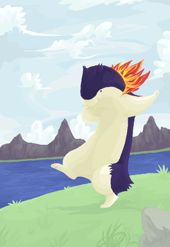 That's one happy Typhlosion by souku